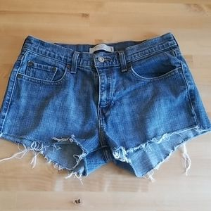 Levi's 515 High Rise Custom Cutoff Denim S…